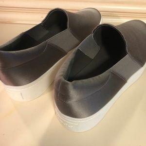 BNWOT Grey Shiny VINCE Platform Sneakers